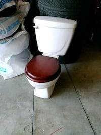 white and brown toilet bowl