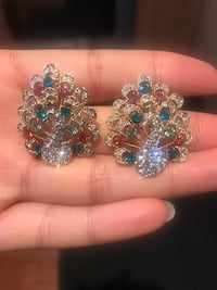 peacock earrings 777 km