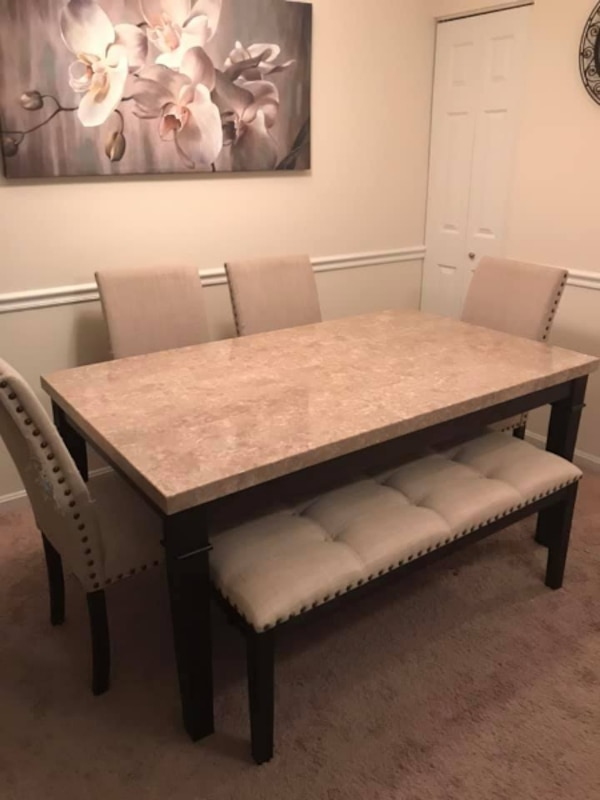 MOVING SALE Dining Room Set Marble Table