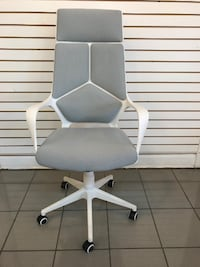 BIG SALE!!! Brand New White And Gray Rolling Chair