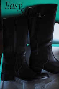 Easy Steps black leather boots Sydney
