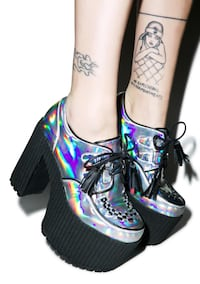 Current Mood Holographic Platform Heels Burnaby, V5G