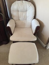 Rocking chair with pocket on both sides & ottoman Alexandria