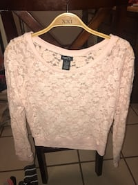 pink floral lace Reu21 long sleeve top Knoxville, 37912