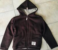 Youth boys size XL/7 full zip hooded sweater