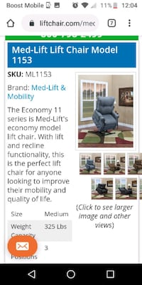 Med fit Chair Model 1153