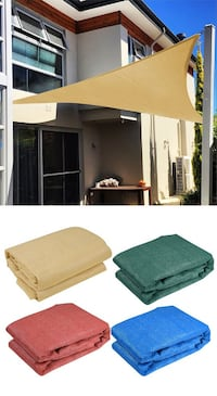 New $25 each 16.5' Triangle Sun Shade Sail Outdoor Canopy Patio Cover (Tan, Red, Green, Blue) Whittier