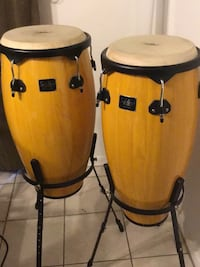 two brown-and-white drum set Cutler Bay, 33157
