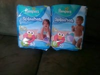 two Pampers Swaddlers diaper packs Murrieta, 92562