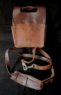 Kunny's Dark Brown Leather Tool Pouch & Belt