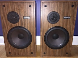 Yamaha NS-6 2-Way Vintage Home Theater Front Floorstanding Tower Surround Sound Speakers