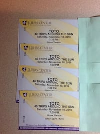 4 TICKETS TOTO ROW N  Martinsburg, 25401