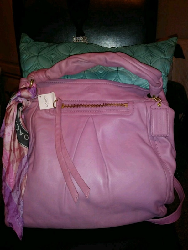 3f4e8111b887 Used pink and purple leather crossbody bag for sale in Douglasville - letgo