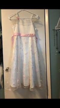 girl's white and pink floral spaghetti strap dress Chandler, 85225