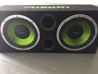 black and green subwoofer speaker Columbus, 43213
