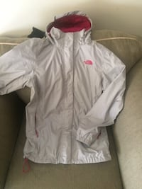 Grey and pink northface  zip-up jacket Winnipeg, R2W 4A3