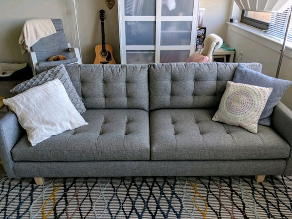 Enjoyable Crate Barrel Petrie Mid Century Sofa Ocoug Best Dining Table And Chair Ideas Images Ocougorg