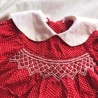 Vintage 70s Red Polka Dot Dress Set Girls 2T Portland, 97222