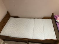 Twin Bed. 3 size convertible bed. With mattress
