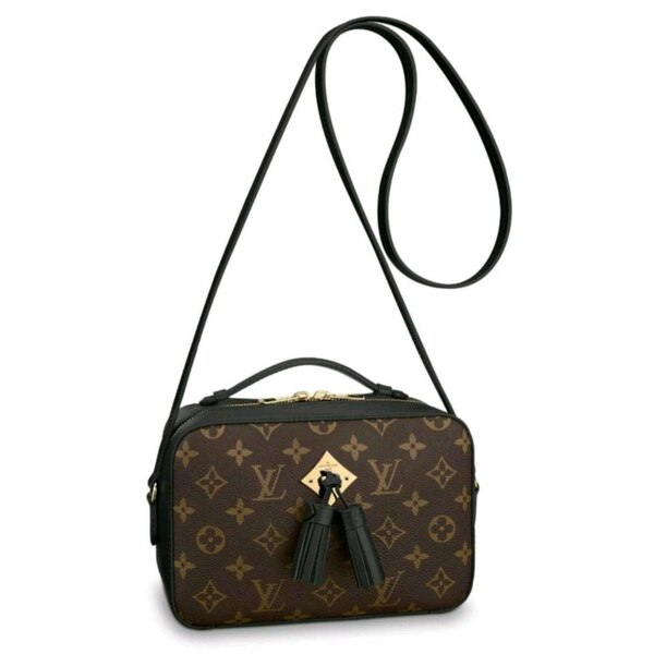 d76b556d7965 Used black and brown monogram Louis Vuitton leather crossbody bag for sale  in Lithonia - letgo