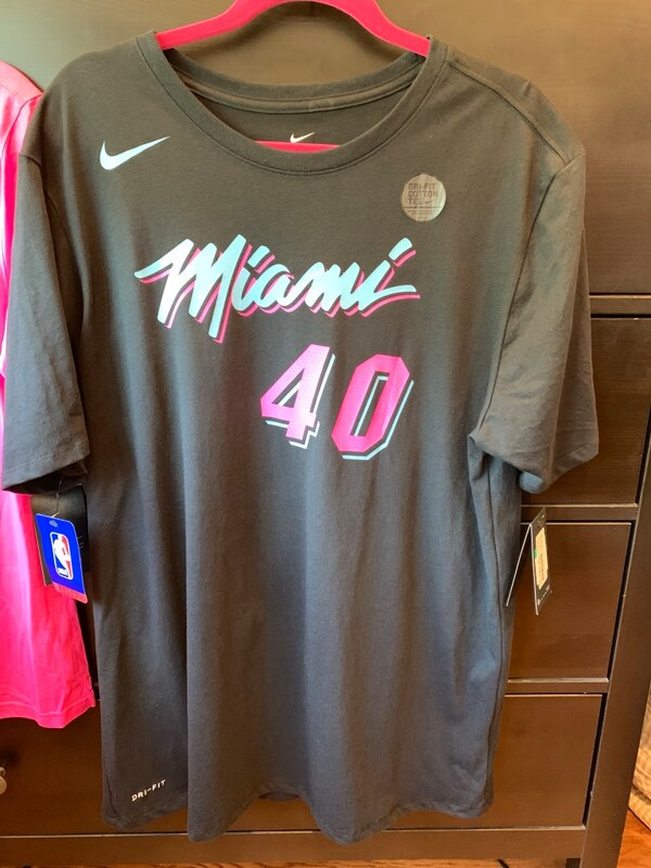 online retailer e6332 a9eb8 Udonis Haslem Miami Heat Black Vice Nike Name and Number Shirt