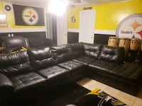 2 piece sectional couch with ottoman  Fort Washington, 20744