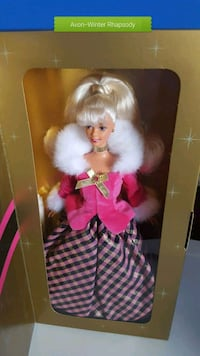Barbie doll in red and white dress Calgary, T2Z 3Y5