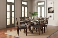 Alston Rustic Trestle Dining Set*** FREE DELIVERY ** WE OFFER FINANCING ** Las Vegas
