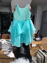Turquoise dress size 13/14 used 1 time  Myrtle Beach, 29588