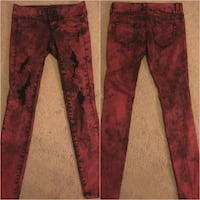 HOT TOPIC Red Distressed Skinny Jeans 2394 mi