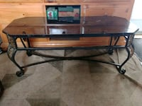 Custom Made Wrought Iron/marble top coffee table Elmira, N3B 2X5
