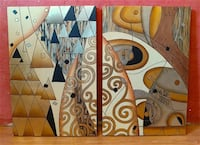 Vintage Abstract Geometric 3D Design Painting Andover