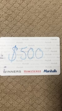 Winners gift card Mississauga, L5W 1R5