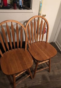 two brown wooden windsor chairs San Antonio, 78228