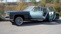Wedding/prom styling in a classic Cadillac Milton