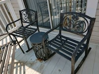 OUTDOOR METAL ROCKER CHAIRS AND ACCENT TABLES Centreville, 20121