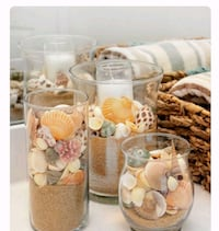 Set of 3 Decorative Seashell Vases Clearwater, 33755