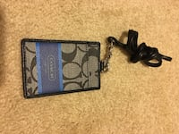 Brown and blue coach keychain with swivel bolt snap hook lock Suffolk, 23435