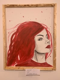 Lady In Red Gallery Featured Painting Columbus, 43206