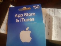 50$ for 35 itunesgift card Victoria, V8T 4N4