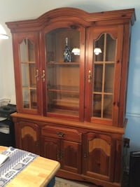 brown wooden display cabinet South Brunswick, 08852