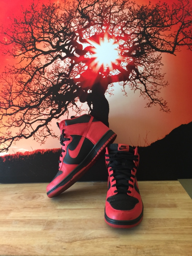 huge selection of 6ca6a 9e6bb sweden used dead stock nike dunk high action red black for sale in north  las vegas