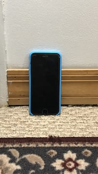 black android smartphone with blue case Elk Grove Village, 60007