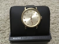 Marc Jacobs watch with leather strap Langley