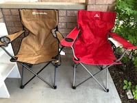 two red and black camping chairs Cambridge, N1P 1B6