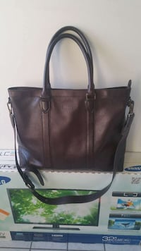 Onassiss brown leather bag overnight New York, 10041