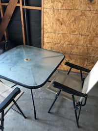 Great condition patio set has four chairs. Want gone Hemet, 92545