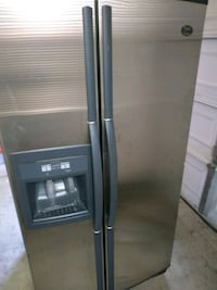 gray side-by-side refrigerator with dispenser Antioch, 94509