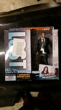 Action figure and stand authentic sound clips from the show