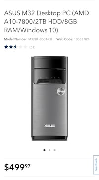 ASUS M32 Desktop PC (AMD A10-7800/2TB HDD/8GB RAM/Windows 10) Langley, V3A 0E6